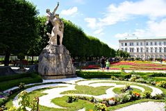 Mirabell Gardens Royalty Free Stock Images