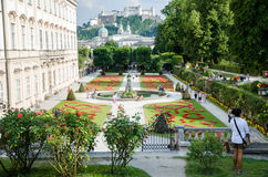 Mirabell gardens in Salzburg Royalty Free Stock Photos