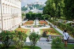 Mirabell gardens in Salzburg Royalty Free Stock Photos