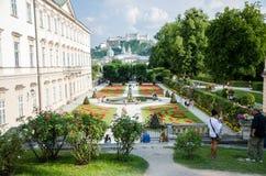 Mirabell gardens in Salzburg Royalty Free Stock Photo