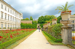 Mirabell gardens in Salzburg, Austria. Royalty Free Stock Photo