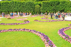 Mirabell gardens in Salzburg, Austria. Royalty Free Stock Image