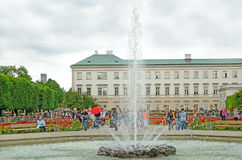 Mirabell gardens in Salzburg, Austria. Stock Photography