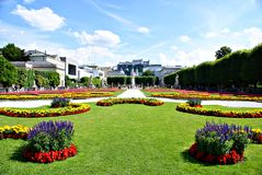 Mirabell Gardens in Salzburg Stock Images