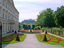 The Mirabell Gardens and the Schloss Mirabell in the centre of Salzburg in Austria Stock Image
