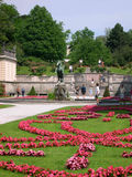The Mirabell Gardens and the Schloss Mirabell in the centre of Salzburg in Austria Stock Images