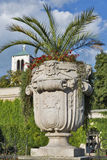 Mirabell gardens vase statue in Salzburg, Austria Royalty Free Stock Image