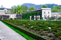 Mirabell palace and garden Stock Photos