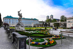 Mirabell palace and garden Royalty Free Stock Photography