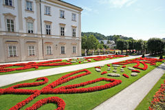 Mirabell palace and garden in Salzburg Royalty Free Stock Photo