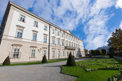 Mirabell Palace with Hohensalzburg in Salzburg, Austria Royalty Free Stock Photography