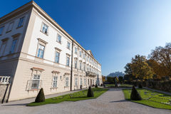 Mirabell Palace with Hohensalzburg in Salzburg, Austria Royalty Free Stock Image