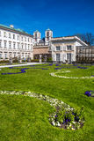 Mirabell palace and St.Andrew's Church-Salzburg Stock Photography