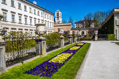 Mirabell palace and St.Andrew's Church-Salzburg Stock Image
