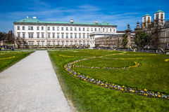 Mirabell palace and St.Andrew's Church-Salzburg Stock Photos