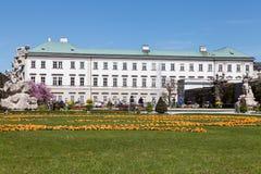 Mirabell slott i Salzburg Arkivfoton