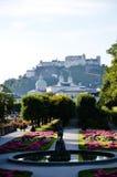 Mirabell trädgård, härlig trädgård i Salzburg (Österrike) Royaltyfri Bild
