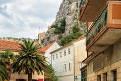 Mirabellavesting Omis Kroatië stock afbeeldingen