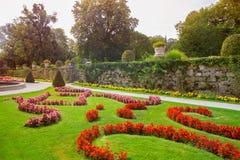 Mirabelle Gardens et palais à Salzbourg Autriche photo stock