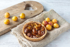 Mirabelle plums pie Stock Images
