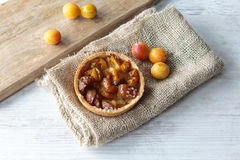 Mirabelle plums pie Royalty Free Stock Photography
