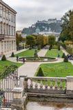 Mirabellgarten or Mirabell garden is garden of Mirabell Palace in Salzburg. Austria stock photos
