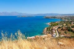 Mirabello海湾。克利特,希腊 免版税图库摄影