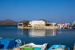 Mirabello海湾看法  免版税图库摄影