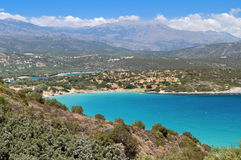 Mirabello海湾,克利特海岛,希腊 免版税库存图片