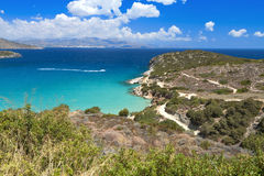 Mirabello bay at Crete island in Greece Stock Photography
