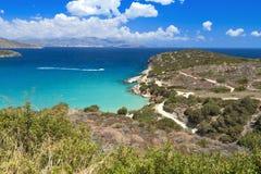 Mirabello bay at Crete island in Greece Stock Photography