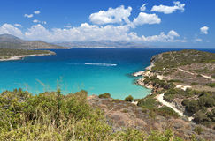 Mirabello bay at Crete island in Greece Stock Photos