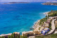 Mirabello bay near Agios Nikolaos in Crete island, Greece Royalty Free Stock Photography