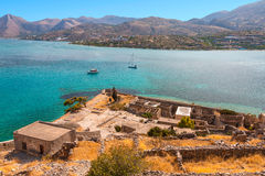 Mirabello bay. Mirabello bay, view from Spinalonga - the last leprosorium Royalty Free Stock Photos