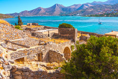 Mirabello bay. Mirabello bay, view from Spinalonga - the last leprosorium Royalty Free Stock Photo