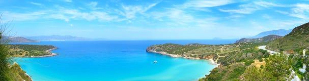 Mirabello zatoka Crete, Grecja Obrazy Royalty Free