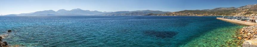 Mirabello zatoki panorama Obraz Royalty Free