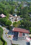 Mirabilandia amusement park. Panoramic view of Mirabilandia, one of the biggest amusement park in Italy.  It has an area of 30 hectares, with an additional Stock Photography
