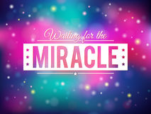 Miracle backgroun. Colorful shiny miracle background eps10 Royalty Free Stock Images
