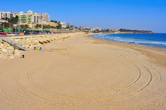 Miracle Beach in Tarragona, Spain Stock Image