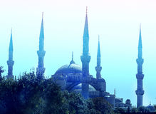 Miracle beautiful blue mosque. Photo miracle beautiful blue mosque in Istanbul Stock Image