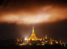 The Miracle clouds above the Shwedagon Pagoda. Yangon, Myanmar Royalty Free Stock Images