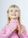 Miracle de attente de petite fille towhead mignonne Photo stock