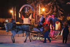 Miracle de Noël images libres de droits