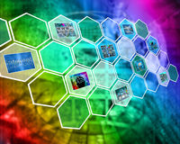 Miracle hexagons Stock Photography