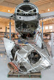 Miracle on the Hudson, Flight 1549, in Charlotte. The Miracle on the Hudson aircraft, Flight 1549, on permanent display at the Carolinas Aviation Museum Royalty Free Stock Photos