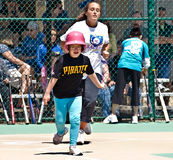 Miracle League Softball for Handicapped Children Stock Image