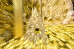 Miracle light shines from a Christmas tree. For wishing and blessing for a wish Royalty Free Stock Image
