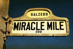 Miracle Mile stock images