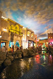 Miracle Mile Shops. In the Aladdin hotel stylized as Arab town Royalty Free Stock Photos